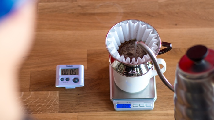 Craft Coffee Kalita Wave Brew Guide - Step 5